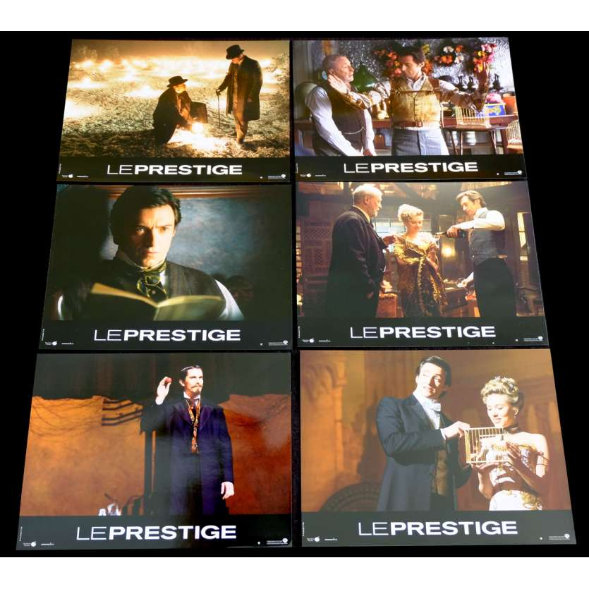 THE PRESTIGE French Lobby Cards Set X6 9x12 - 2006 - Christopher Nolan, Hugh Jackman