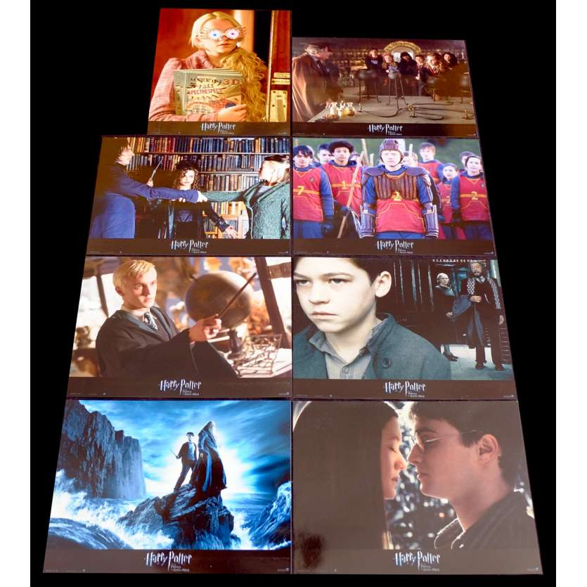 HARRY POTTER VI French Lobby Cards Set X8 9x12 - 2009 - David Yates, Daniel Radcliffe