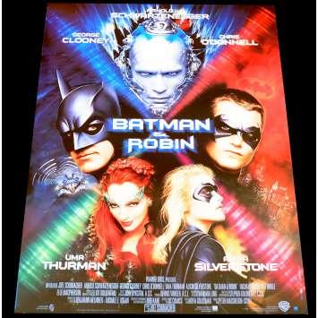 BATMAN AND ROBIN French Movie Poster 15x21 - 1997 - Joel Schumacher, Arnold Schwarzenneger