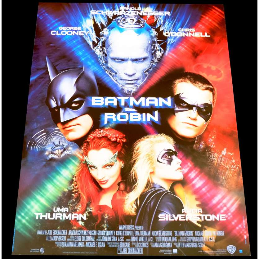 BATMAN ET ROBIN Affiche de film 40x60 - 1997 - Arnold Schwarzenneger, Joel Schumacher