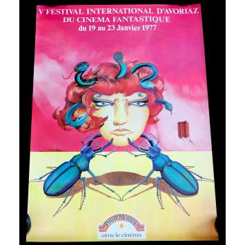 FESTIVAL D'AVORIAZ 1977 Affiche officielle 48,5x69 - Staub