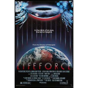 LIFEFORCE Affiche de film 69x104 - 1985 - Mathilda May, Tobe Hooper