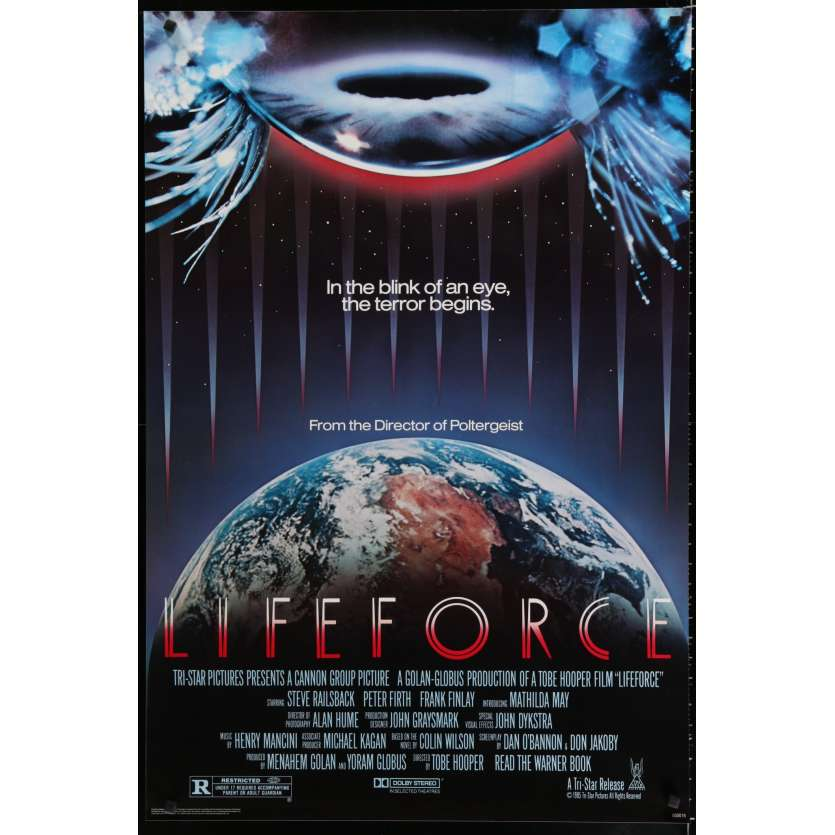 LIFEFORCE Affiche de film 69x104 - 1985 - Mathilda May, Tobe Hooper