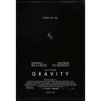GRAVITY US Movie Poster 29x41 - 2013 - Alfonso Cuaron, Sandra Bullock
