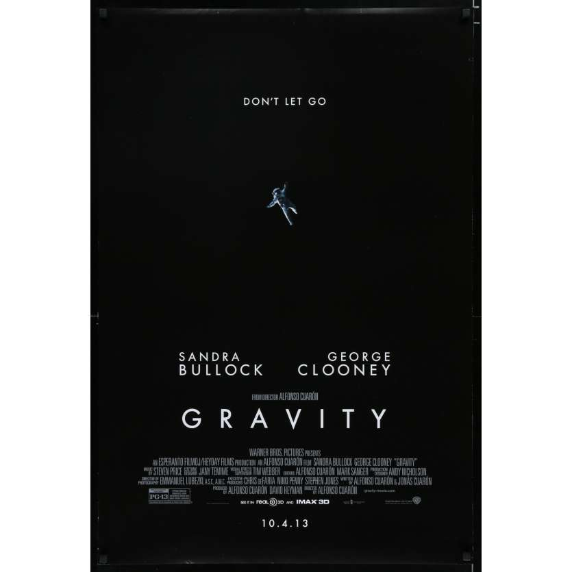 GRAVITY US Movie Poster 29x41 - 2013 - Alfonso Cuaron, Sandra Bullock