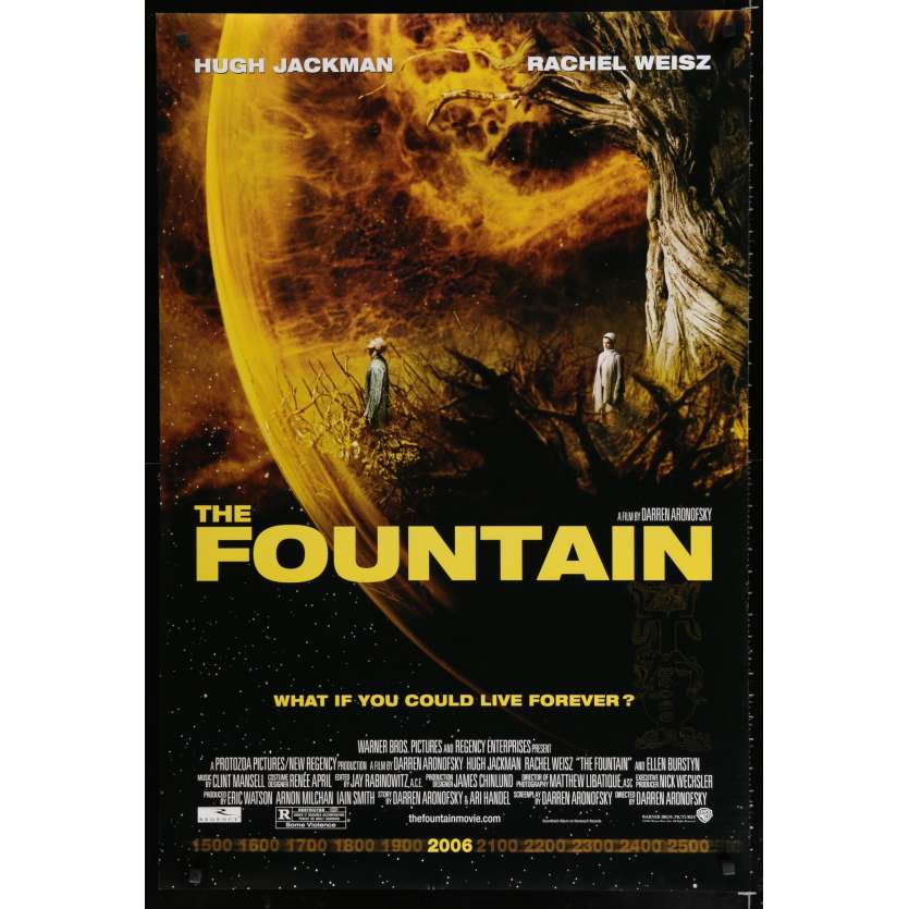 FOUNTAIN US Movie Poster 29x41 - 2006 - Daren Aronofsky, Hugh Jackman