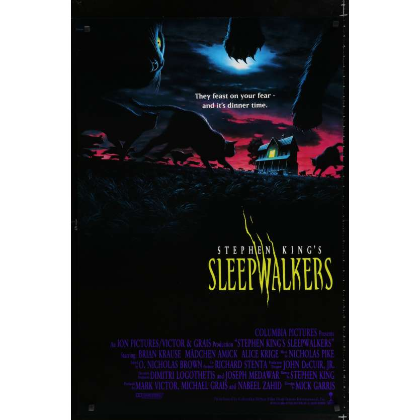 SLEEPWALKERS US Movie Poster 29x41 - 1992 - Mick garris, Stephen King