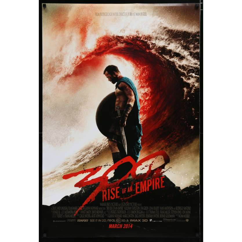 300: RISE OF AN EMPIRE US Movie Poster 29x41 - 2014 - Noam Murro, Eva Green