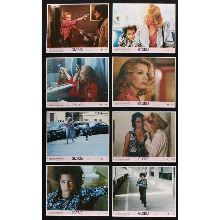 GLORIA US Lobby Cards x8 8x10 - 1980 - John Cassavetes, Gena Rowlands