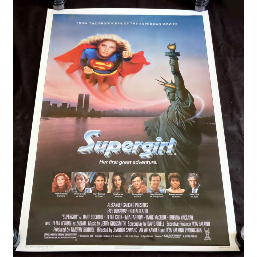SUPERGIRL US Movie Poster 29x59 - 1984 - Jeannot Szwarc, Faye Dunaway