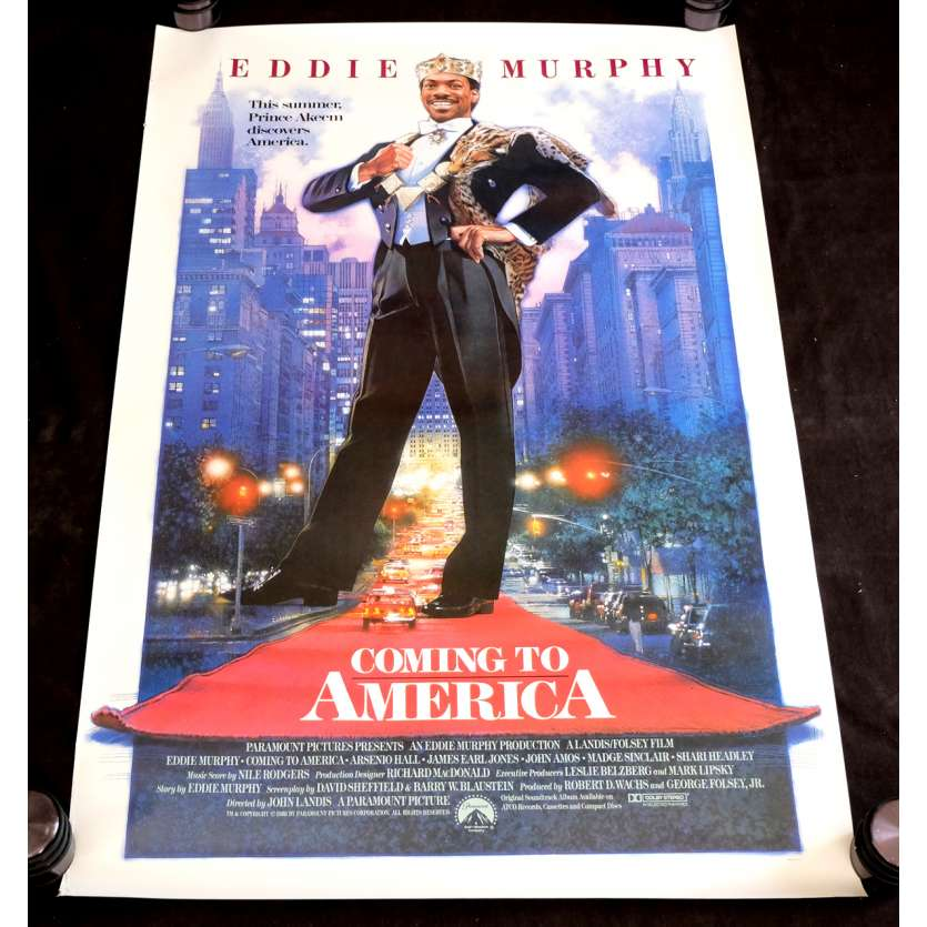 COMING TO AMERICA US Movie Poster 29x43 - 1988 - John Landis, Eddie Murphy