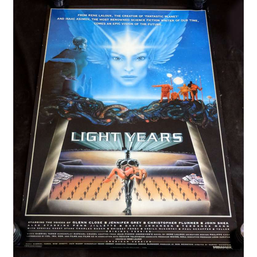 LIGHTYEARS US Movie Poster 29x51 - 1988 - René Laloux, Glen Close