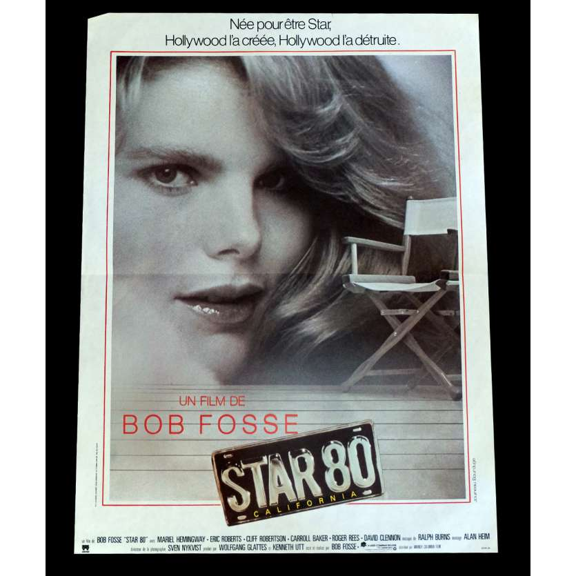 STAR 80 French Movie Poster 15x21 - 1983 - Bob Fosse, Mariel Hemingway