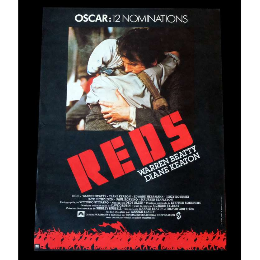 REDS Affiche de film 40x60 - 1981 - Diane Keaton, Warren Beatty