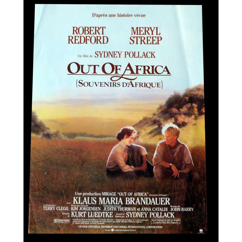 OUT OF AFRICA, STYLE B French Movie Poster 15x21 - 1985 - Sydney Pollack, Robert Redford