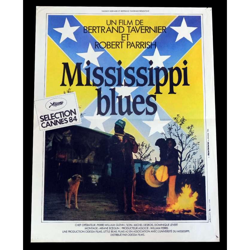 MISSISSIPI BLUES Affiche de film 40x60 - 1983 - Robert Parrish, Bertrand Tavernier