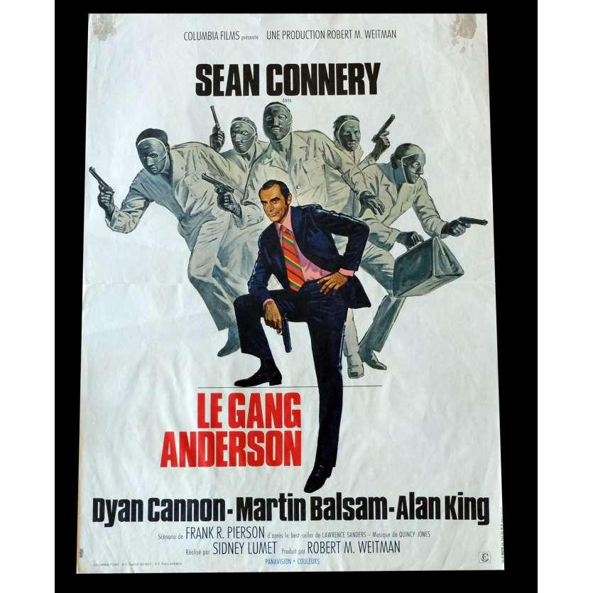 LE GANG ANDERSON Affiche de film 40x60 - 1971 - Sean Connery, Sidney Lumet