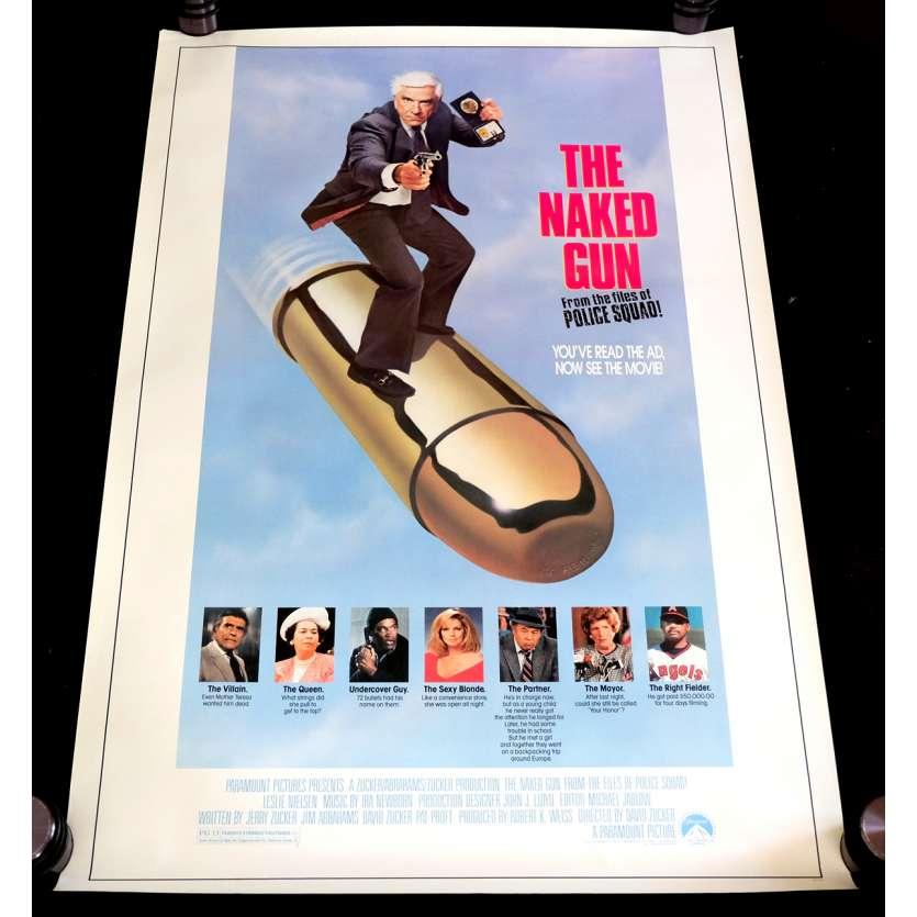 Y'A T-IL UN FLIC POUR SAUVER LA REINE ? Affiche de film 69x102 - 1988 - Leslie Nielsen, David Zucker