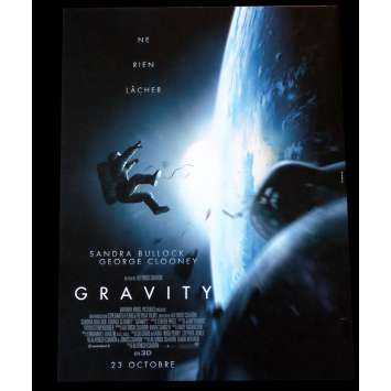 GRAVITY French Movie Poster 15x21 - 2013 - Alfonso Cuaron, Sandra Bullock