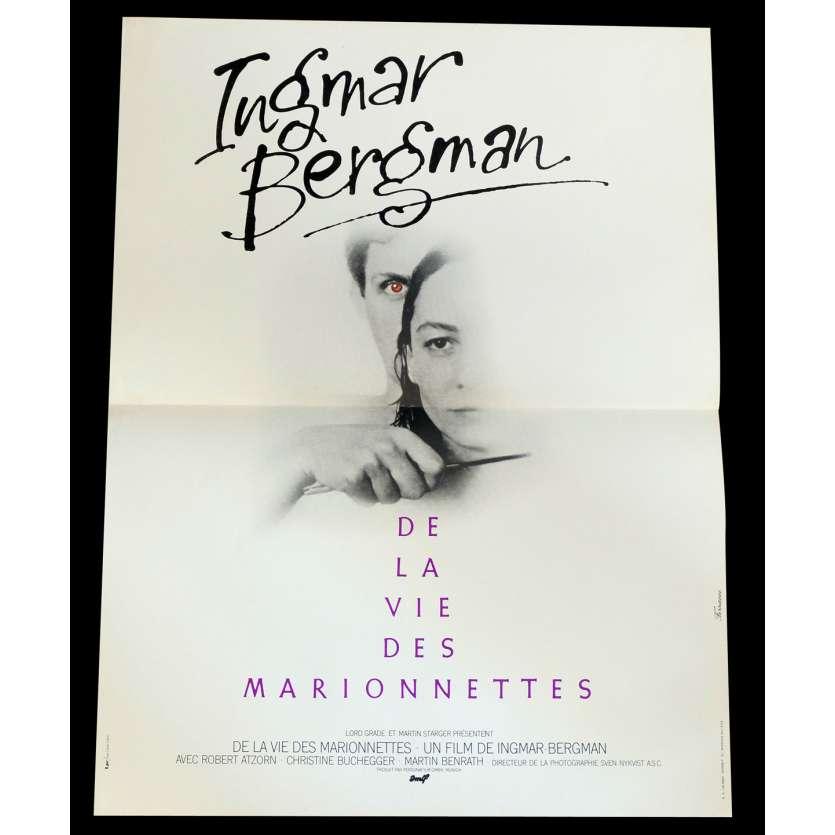 DE LA VIE DES MARIONNETTES Affiche de film 40x60 - 1980 - Robert Atzorn, Ingmar Bergman
