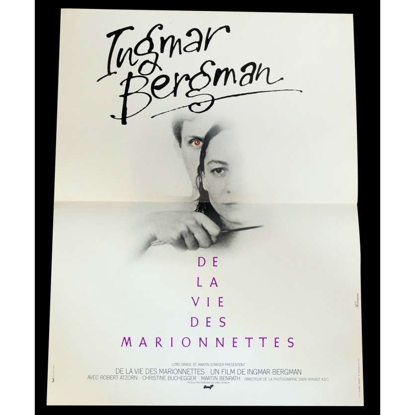 FROM THE LIFE OF THE MARIONNETTES French Movie Poster 15x21 - 1980 - Ingmar Bergman, Robert Atzorn