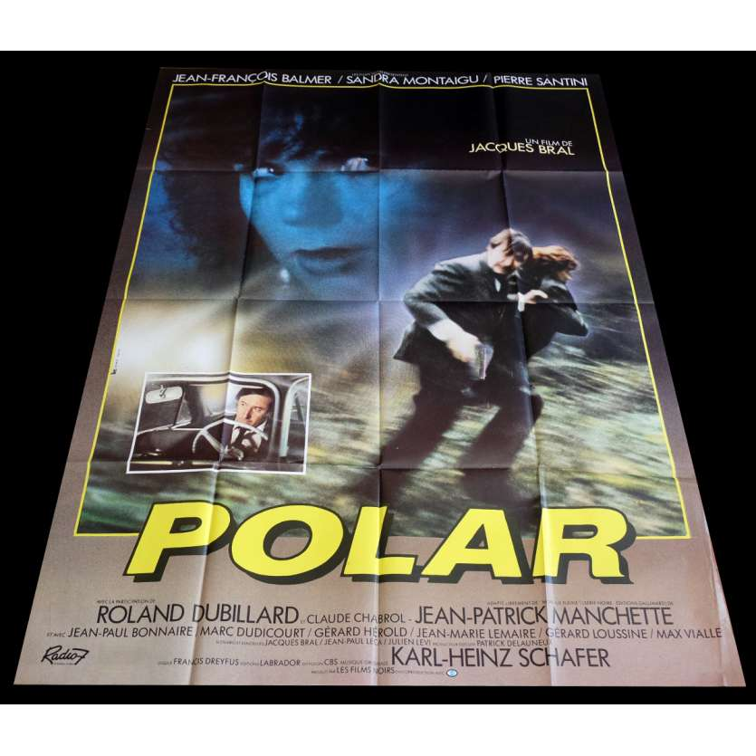 POLAR French Movie Poster 47x63 - 1984 - Jacques Bral, Jean-François Balmer
