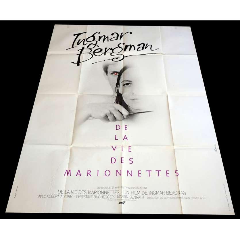 DE LA VIE DES MARIONNETTES Affiche de film 120x160 - 1980 - Robert Atzorn, Ingmar Bergman