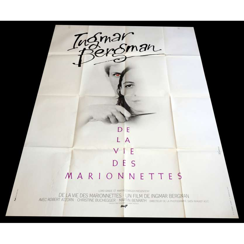 FROM THE LIFE OF THE MARIONNETTES French Movie Poster 47x63 - 1980 - Ingmar Bergman, Robert Atzorn