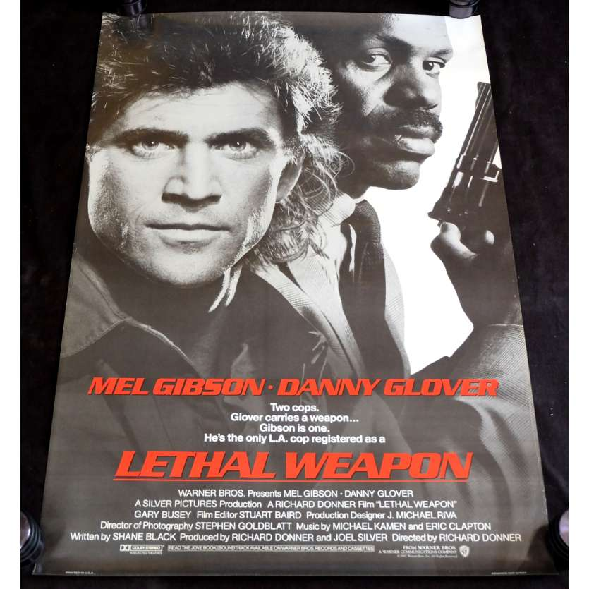LETHAL WEAPON US Movie Poster 29x49 - 1987 - Richard Donner, Mel Gibson
