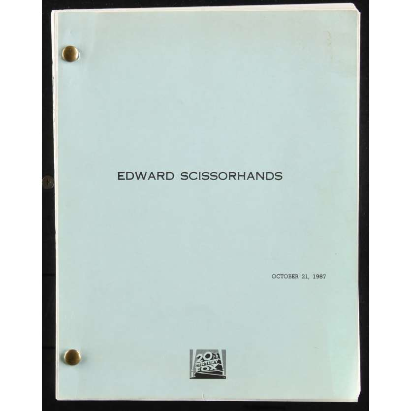 EDWARD SCISSORHANDS US Movie Script Date: 21/10/1987 - 116p -First Draft 9x12 - 1987 - Caroline Thompson,