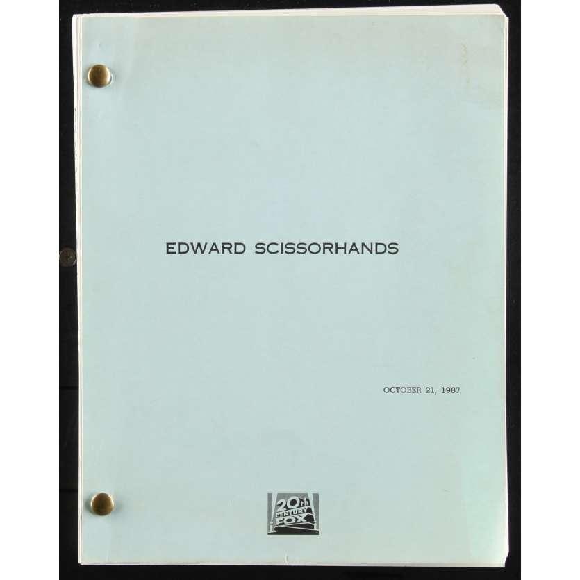 EDWARD SCISSORHANDS US Movie Script Date: 21/10/1987 - 116p -First Draft 9x12 - 1987 - Caroline Thompson,