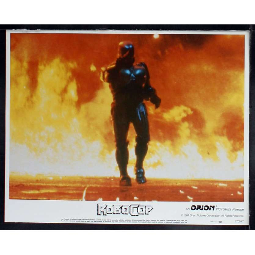 ROBOCOP US Lobby card N6 11x14 - 1987 - Paul Verhoeven, Peter Weller