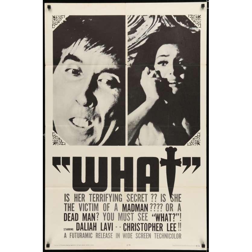 LE CORPS ET LE FOUET Affiche de film 69x104 - 1965 - Barbara Steele, Mario Bava