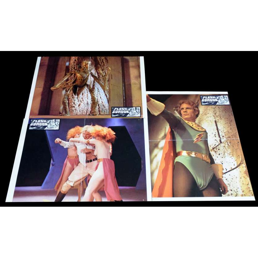 FLESH GORDON Photos x3 21x30 - 1974 - Jason Williams, Howard T. Ziehm
