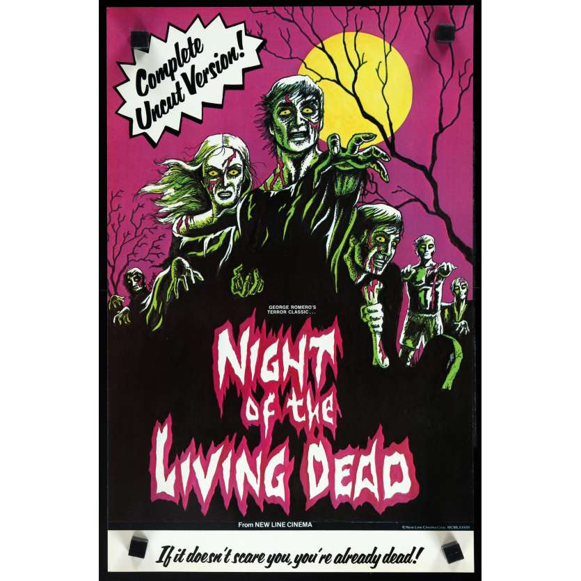 NIGHT OF THE LIVING DEAD US Special Poster 11x17 - R1978 - George A. Romero, Duane Jones
