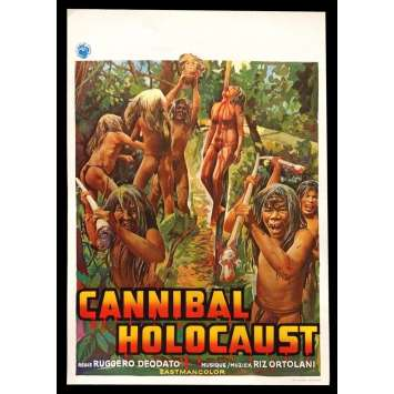 CANNIBAL HOLOCAUST Belgian Movie Poster 14x22 - 1980 - Ruggero Deodato, Francesca Ciardi