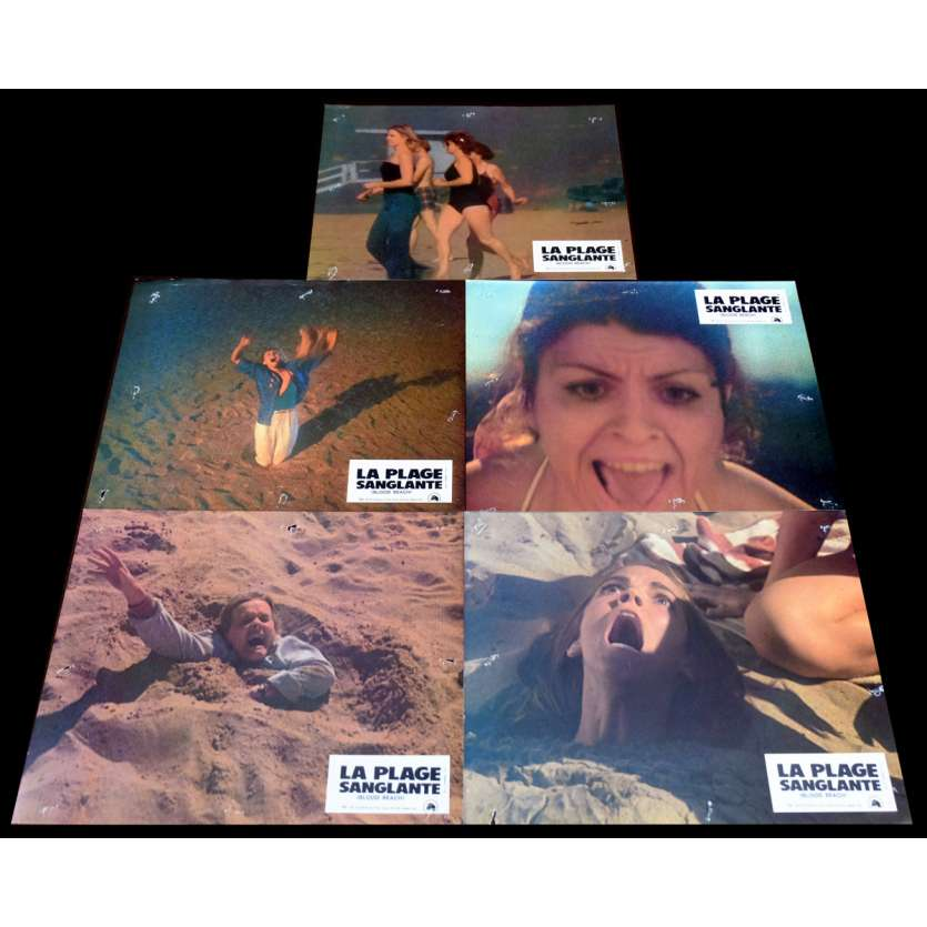 BLOOD BEACH French Lobby Cards x5 9x12 - 1981 - Jeffrey Bloom, David Huffman