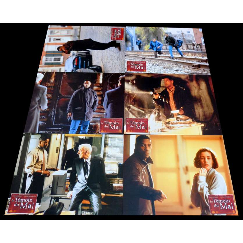 FALLEN French Lobby Cards x6 9x12 - 1998 - Gregory Hoblit, Denzel Washington