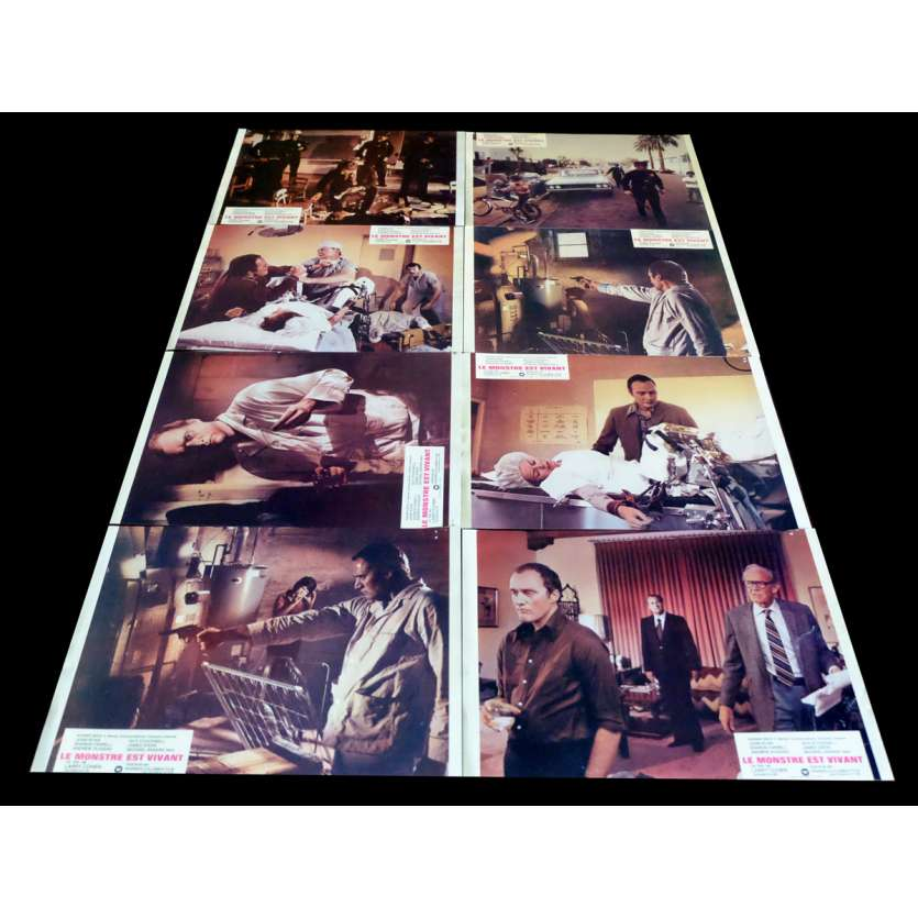 IT'S ALIVE French Lobby Cards x8 9x12 - 1974 - Larry Cohen, John P. Ryan