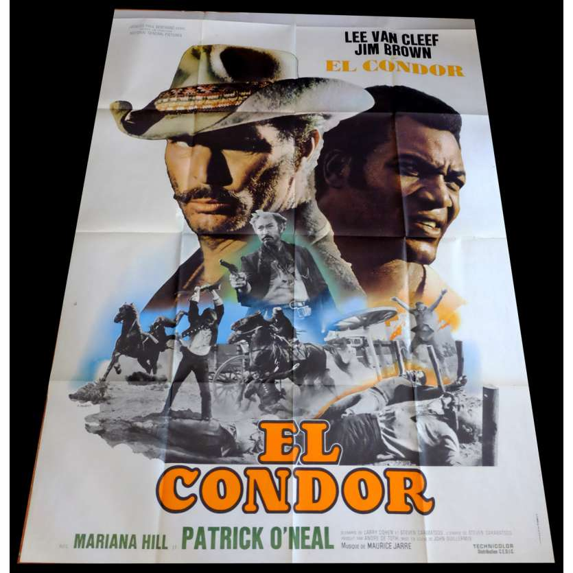 EL CONDOR French Movie Poster 47x63 - 1970 - John Guillermin, Lee Van Cleef