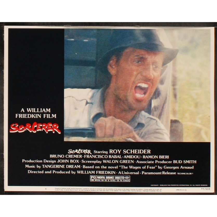 SORCERER US Lobby Card 8 11x14 - 1977 - William Friedkin, Roy Sheider