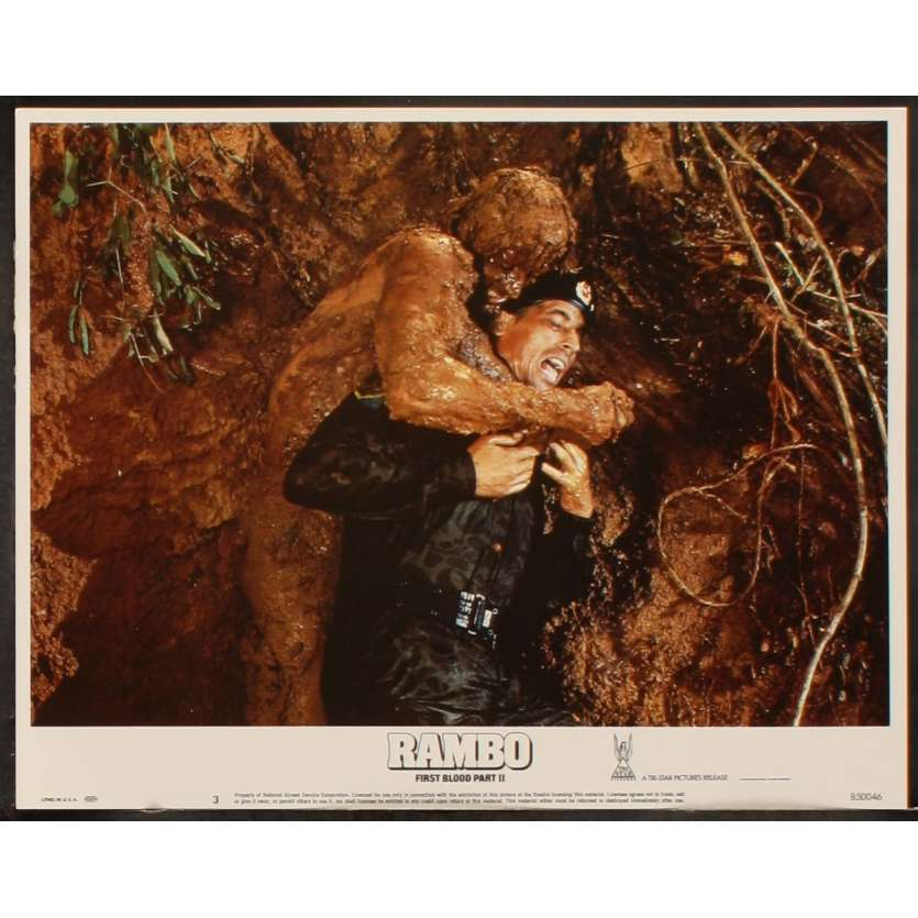 RAMBO FIRST BLOOD II US Lobby Card 6 11x14 - 1985 - George Pan Cosmatos, Sylvester Stallone