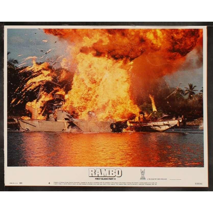 RAMBO II Photo de film 8 28x36 - 1985 - Sylvester Stallone, George Pan Cosmatos
