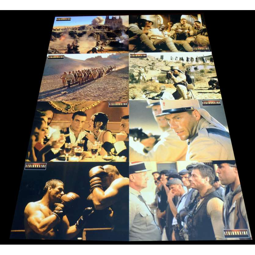 LEGIONNAIRE Photos de film x8 21x30 - 1998 - Jean-Claude Van Damme, Peter McDonald