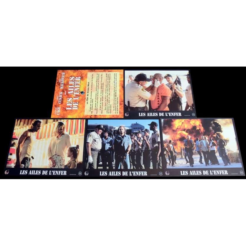 CON AIR French Lobby Cards x5 9x12 - 1997 - Simon West, Nicolas Cage
