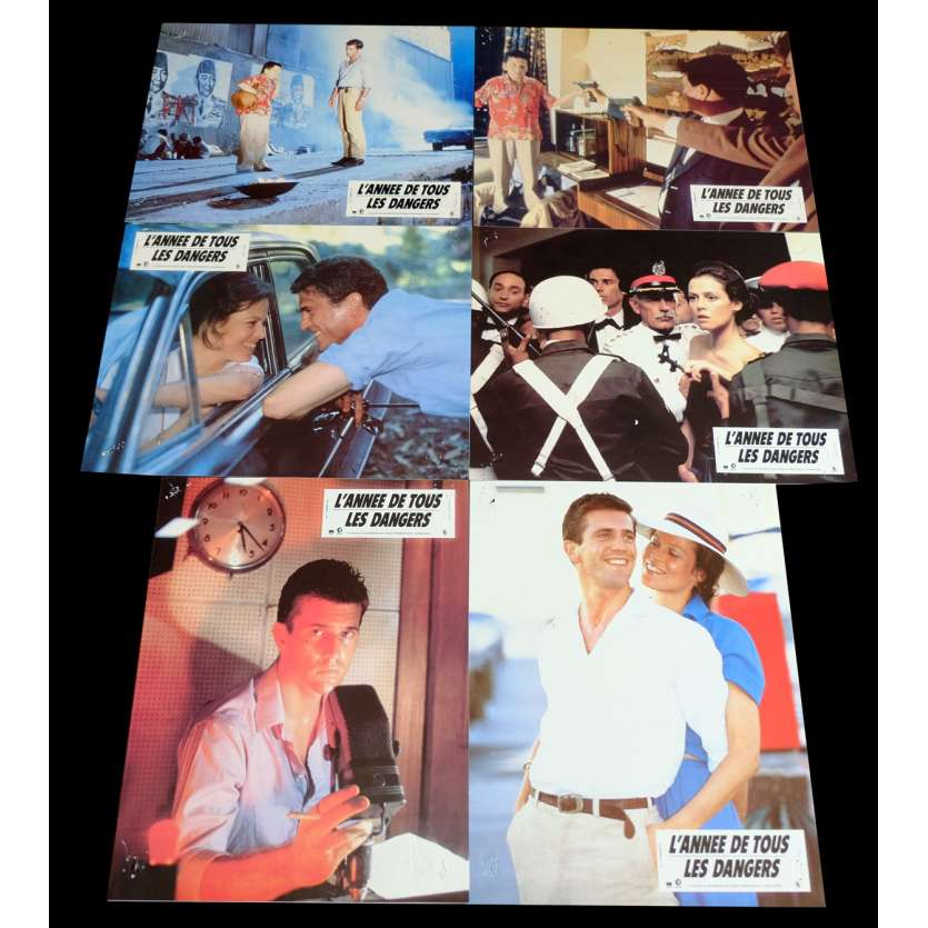 THE YEAR OF LIVING DANGEROUSLY French Lobby Cards x6 9x12 - 1982 - Peter Weir, Mel Gibson