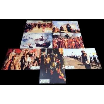 1492 French Lobby Cards x7 9x12 - 1992 - Ridley Scott, Gérard Depardieu