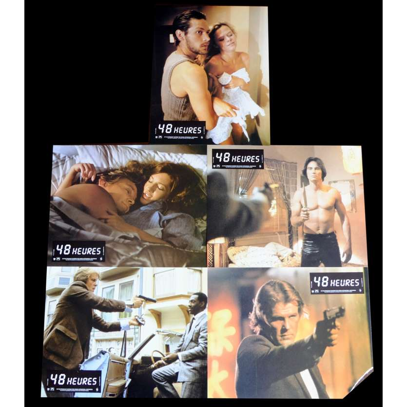 48 HOURS French Lobby Cards x5 9x12 - 1982 - Walter Hill, Nick Nolte