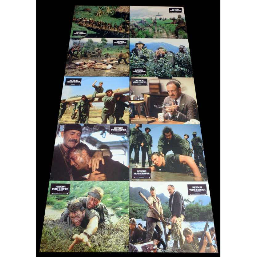 UNCOMMON VALOR French Lobby Cards x10 9x12 - 1983 - Ted Kotcheff, Gene Hackman