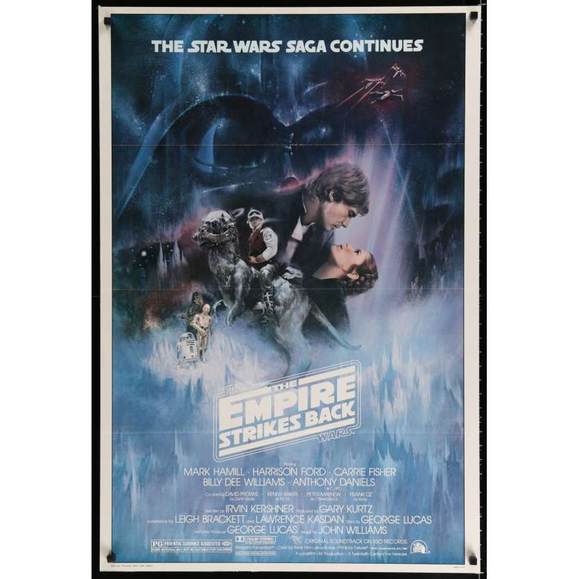 STAR WARS - EMPIRE STRIKES BACK US Movie Poster Style A 29x41 - 1980 - George Lucas, Harrison Ford